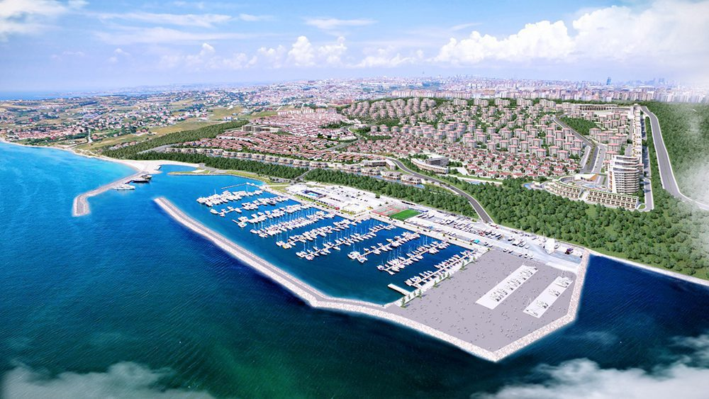 property turkey with a marina for boat