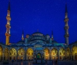 must go places in istanbul Blue mosque